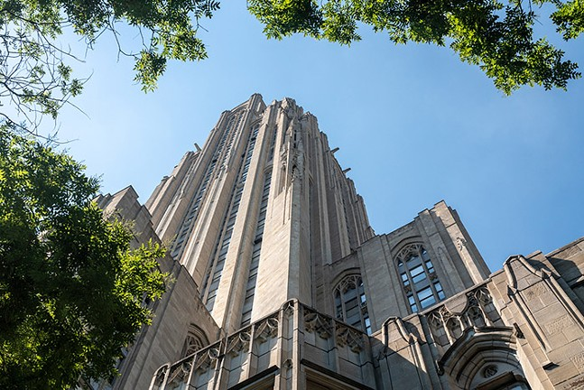 Cathedral of Learning on the University of Pittsburgh campus