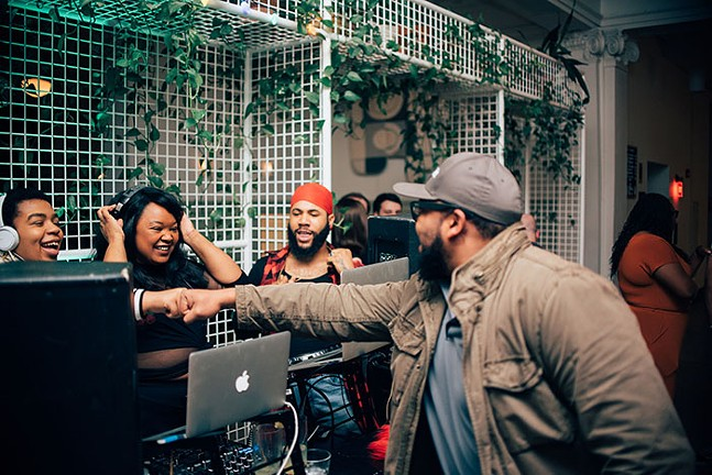 DJ Aesthetics, HUNY, and DJ Kenya Osi at Ace Hotel Pittsburgh's Darkness is Spreading x In the Weeds event series - PHOTO: JORDAN HOWARD