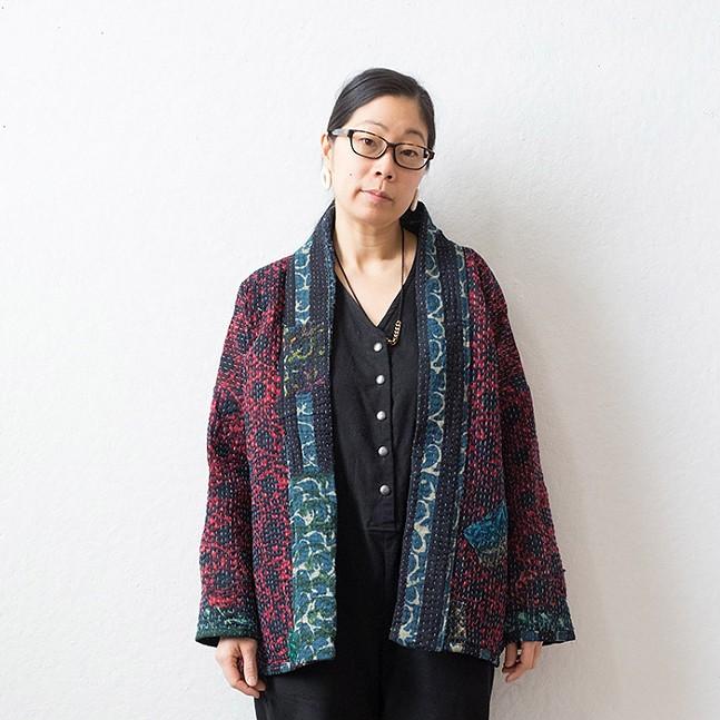 Designer Rona Chang of OTTO FINN wearing the OOAK Norah - Jacket - PHOTO: JULIA BETTS