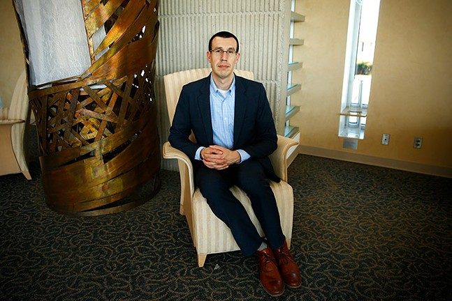 Aaron Meyer, Rabbi of Temple Emanuel of South Hills - CP PHOTO: JARED WICKERHAM