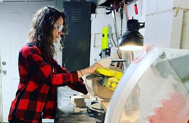 Woodworking at Workshop PGH - PHOTO: MATT PLAZEK