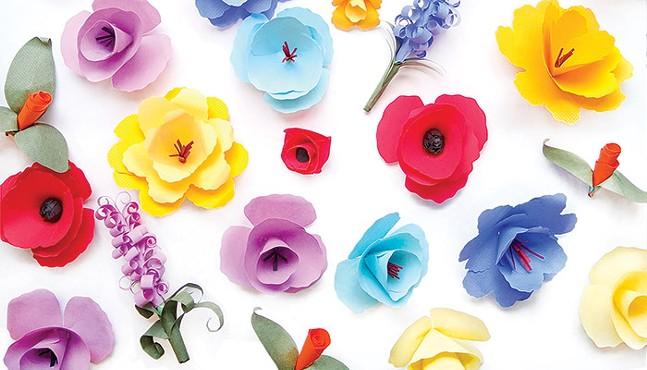 CP ARTWORK OF HAND-SCULPTED PAPER FLOWERS: ABBIE ADAMS