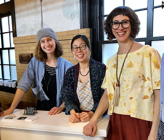 Photo: (From left to right) Rebekah Joy, Rona Chang, and Kelly Simpson-Scupelli of Make + Matter - MAKE + MATTER