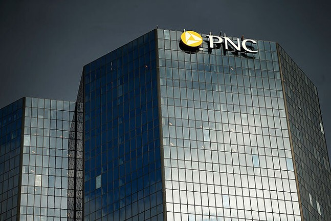 PNC Bank offices in Downtown Pittsburgh - CP PHOTO: JARED WICKERHAM