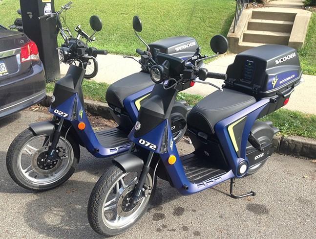 Scoobi mopeds in Bloomfield - CP PHOTO: RYAN DETO