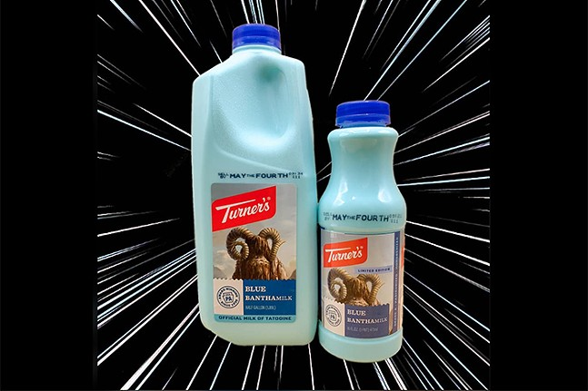 Blue Bantha Milk - IMAGE COURTESY OF TURNER DAIRY FARMS