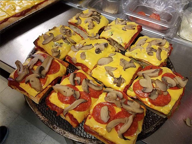 Altoona-style pizza with extra toppings - PHOTO: 29TH STREET PIZZA SUBS & MORE