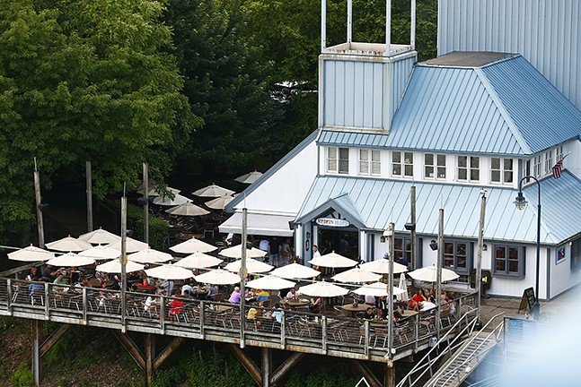 Outdoor dining at Redfin Blues in Washington's Landing - CP PHOTO: JARED WICKERHAM