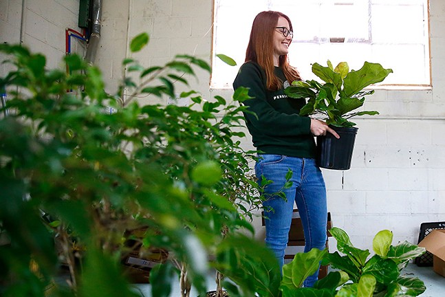 Abi Falcioni, owner of Perrico Plant Co., inside her Lawrenceville shop - CP PHOTO: JARED WICKERHAM