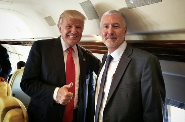 Donald Trump and Keith Burris in 2016