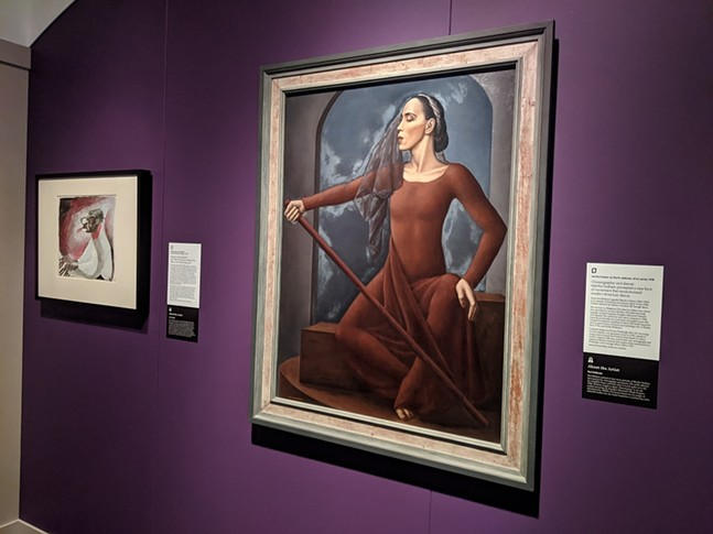 "Martha Graham (right) and Earl ""Fatha"" Hines (left) at Smithsonian's Portraits of Pittsburgh: Works from the National Portrait Gallery - CP PHOTO: AMANDA WALTZ"
