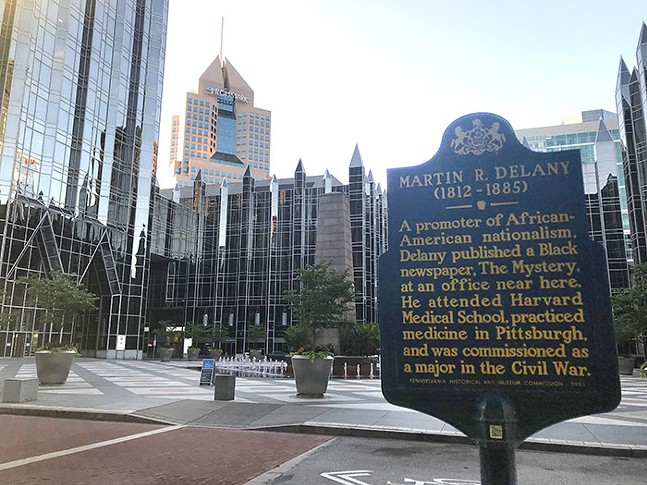 Martin R. Delaney historical marker in Downtown Pittsburgh - CP PHOTO: RYAN DETO