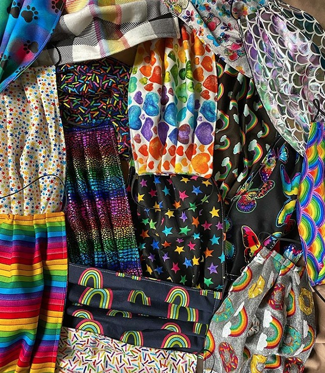 Pride masks - PHOTO: KATI GRIMES