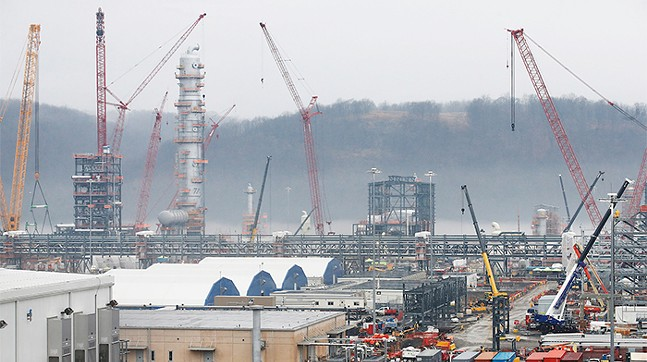 The site of a Shell ethane cracker plant, shown under construction in 2018, in Monaca, Pa. - CP PHOTO: JARED WICKERHAM