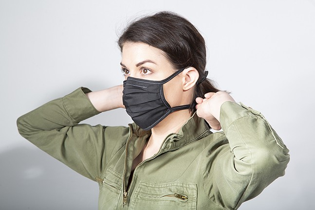 Reusable broadcloth mask in black from East Eight Co. - PHOTO: EAST EIGHT CO.