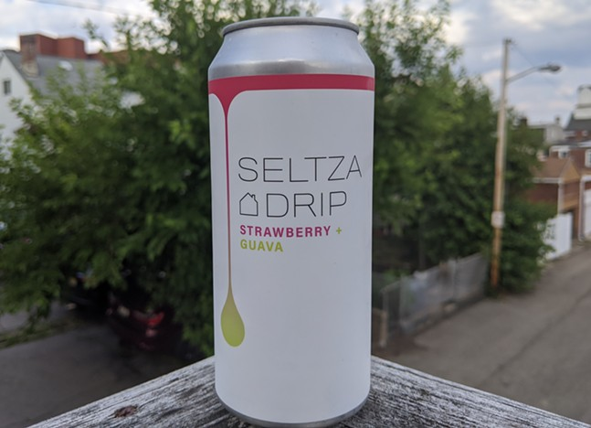 Can of Grist House's Strawberry + Guava hard seltzer - CP PHOTO: MAGGIE WEAVER