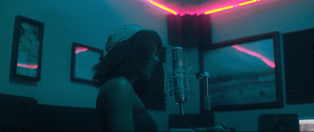 Screenshot from Samurai Velvet's Nite Out music video