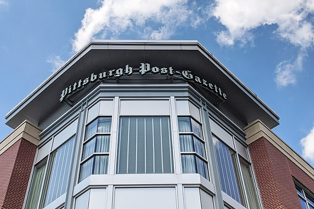 Pittsburgh Post-Gazette offices on the North Side - CP PHOTO: LISA CUNNINGHAM