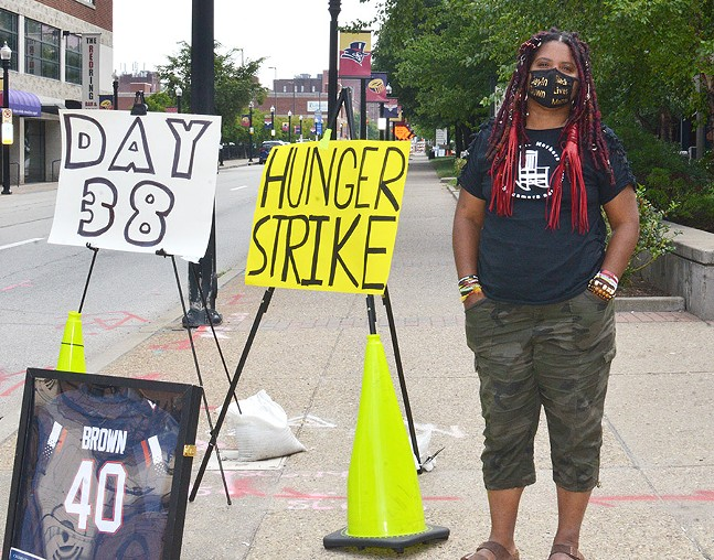 Dannielle Brown on day 38 of her hunger strike - CP PHOTO: TERENEH IDIA