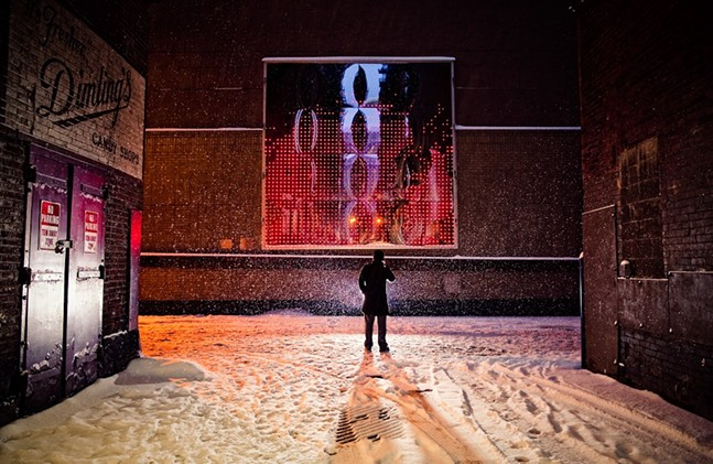 Cell Phone Disco installation on Tito Way in Downtown Pittsburgh - PHOTO BY JOEY KENNEDY/COURTESY OF THE PITTSBURGH CULTURAL TRUST