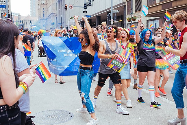 Pittsburgh Pride in Downtown Pittsburgh in 2019 - CP PHOTO: JARED MURPHY