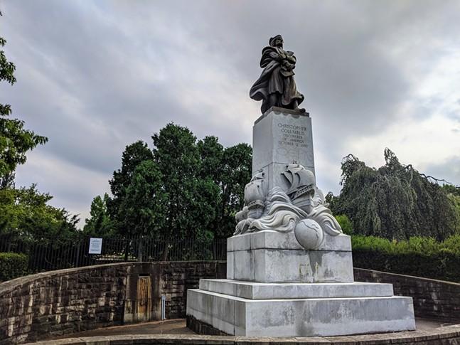 Christopher Columbus statue in Schenley Park - CP PHOTO: AMANDA WALTZ
