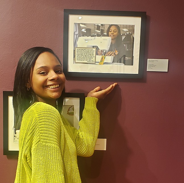 Jazmiere Bates, owner and creative designer of Kin of Duncan, with photo by Njaimeh Nije - PHOTO: KIN OF DUNCAN