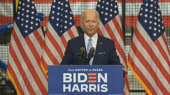 Joe Biden in Hazelwood - SCREENSHOT TAKEN FROM YOUTUBE