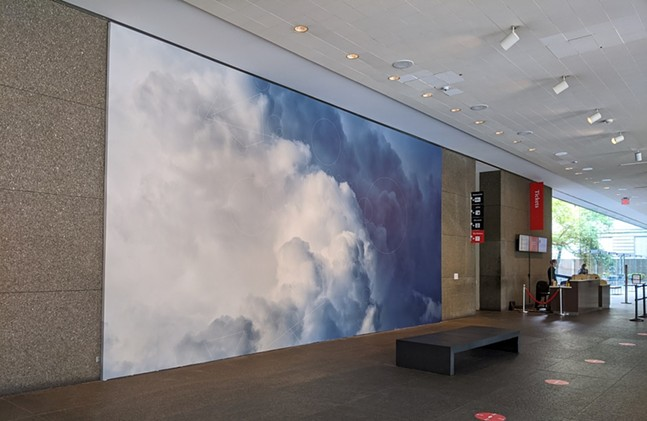 CLOUD #902 Scale Invariant Feature Transform; Watershed at CMOA's Trevor Paglen: Opposing Geometries exhibit - CP PHOTO: AMANDA WALTZ