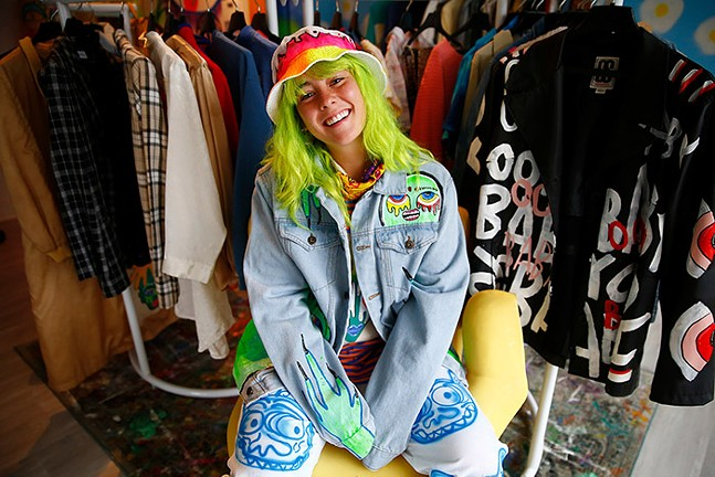 Anika Ignozzi, owner and designer of Ooh Baby, poses for a portrait inside of her Millvale store. - CP PHOTO: JARED WICKERHAM