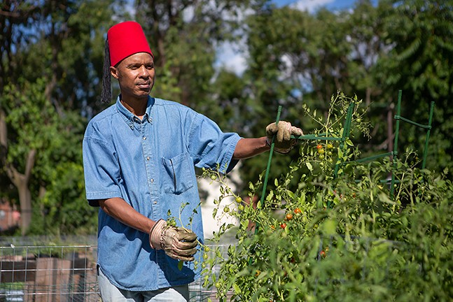 Kent Bey, executive steward of the Peace and Friendship Farm in the Hill District. - PHOTO: BRIAN COOK