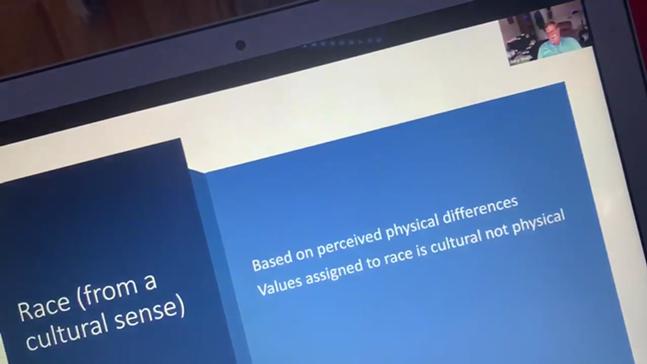 Screenshot taken from a viral video of a Duquesne University online class
