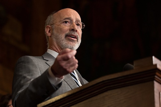 Gov. Wolf at a press conference in January - PHOTO: THE OFFICE OF GOVERNOR TOM WOLF