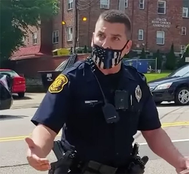 Pittsburgh Police Officer Paul Abel Jr. - SCREENSHOT FROM A VIDEO SHARED WITH PITTSBURGH CITY PAPER