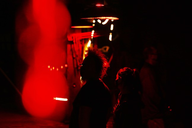 Guests walk through the Carrie Furnace - CP PHOTO: JARED WICKERHAM