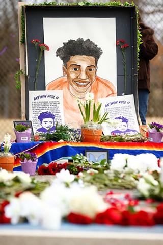 Memorial honoring Antwon Rose Jr. - CP PHOTO: JARED WICKERHAM