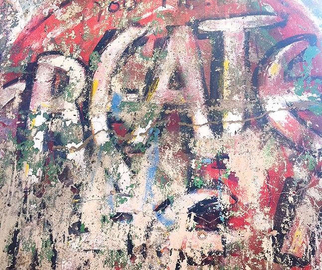 A piece of the Berlin Wall at Kentuck Knob - CP PHOTO: LISA CUNNINGHAM