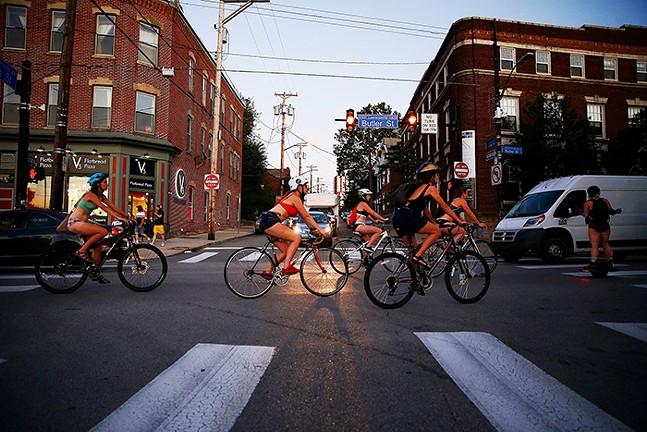 A (pre-COVID) Pittsburgh Underwear Bike Ride - CP PHOTO: JARED WICKERHAM