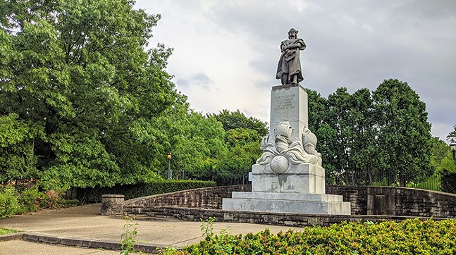 The Christopher Columbus statue in Schenley Park - CP PHOTO: AMANDA WALTZ
