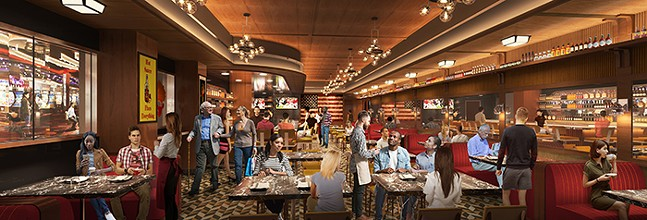 A projection of what Guy Fieri's restaurant will look like. - COURTESY OF  MEINERT/MASHEK COMMUNICATIONS