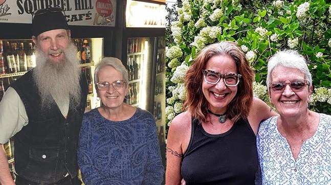 Left: Billy the Bartender and Jan Cavrak // Right: Leslie Anne Mcilroy and Jan Cavrak - LEFT PHOTO: COURTESY OF JAN CAVRAK // RIGHT PHOTO: REGE BEHE
