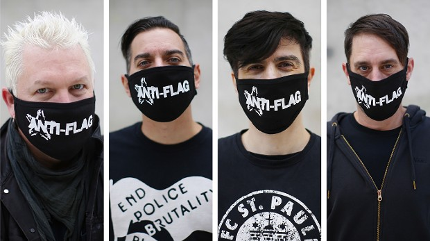 Pat Thetic, Chris #2, Justin Sane, and Chis Head of Anti-Flag - CP PHOTOS: JARED WICKERHAM
