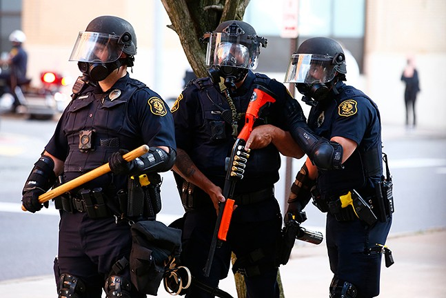 George Floyd protestors clashed with police and SWAT  in East Liberty on Mon., June 1. - CP PHOTO: JARED WICKERHAM