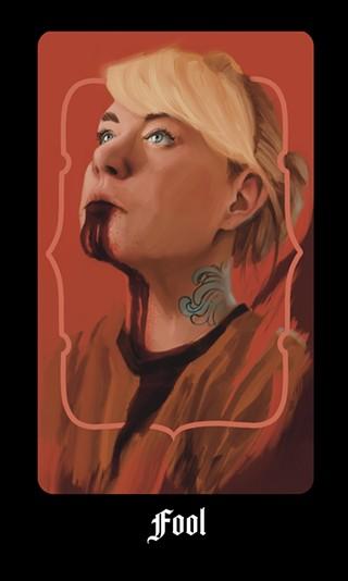 Self-portrait of Barbee-Turner as the CULT Fool card - GENEVIEVE BARBEE-TURNER/KI11ERPANCAKE