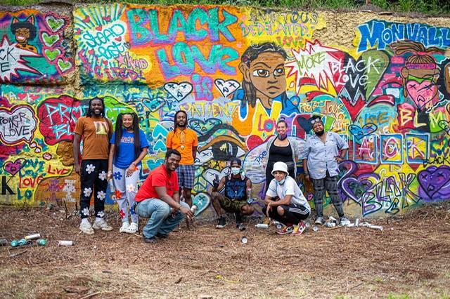 Black On Black Love: A Public Art Action artists - PHOTO BY JOHN ALTDORFER