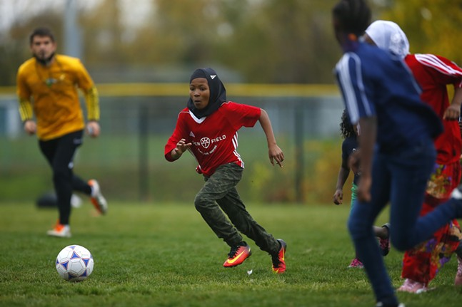 Open Field's initiative, Soccer for Social Impact, hosts their girls and boys games following 8 weeks of programs for immigrants and refugee children. - CP PHOTO: JARED WICKERHAM