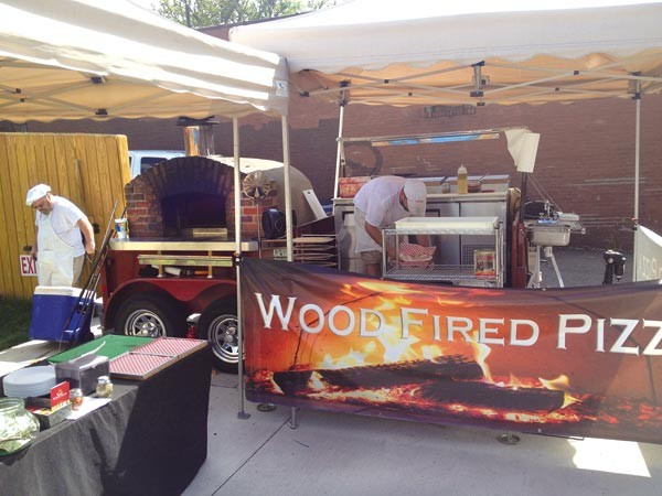 Wood Fired Flatbreads' mobile pizza unit at Arsenal Cider House - PHOTO BY ALEX ZIMMERMAN