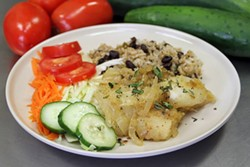 Yuca con mojo, yuca in mojo Sauce - PHOTO COURTESY OF CONFLICT KITCHEN