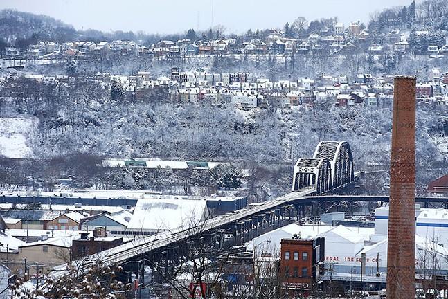 Snow falls on Polish Hill, Feb. 7, 2020 - CP PHOTO: JARED WICKERHAM
