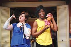 Julianne Avolio and Sara Williams in Girls Only, at CLO Cabaret - PHOTO COURTESY OF MATT POLK